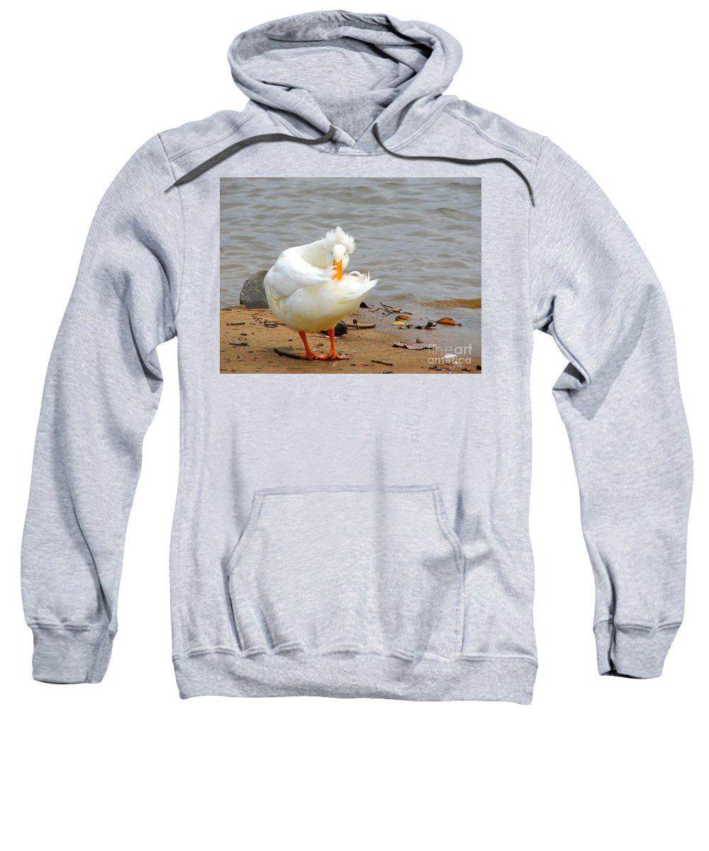 Duck Sweatshirt featuring the photograph Here's Looking At You by Todd Blanchard