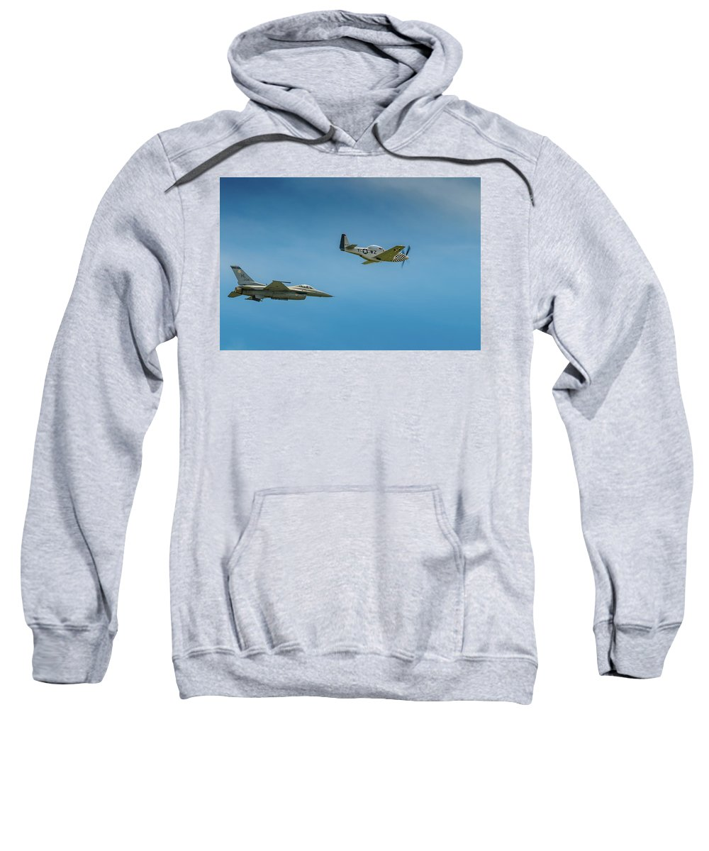 Aircraft Sweatshirt featuring the photograph Heritage Flight by Javier Flores
