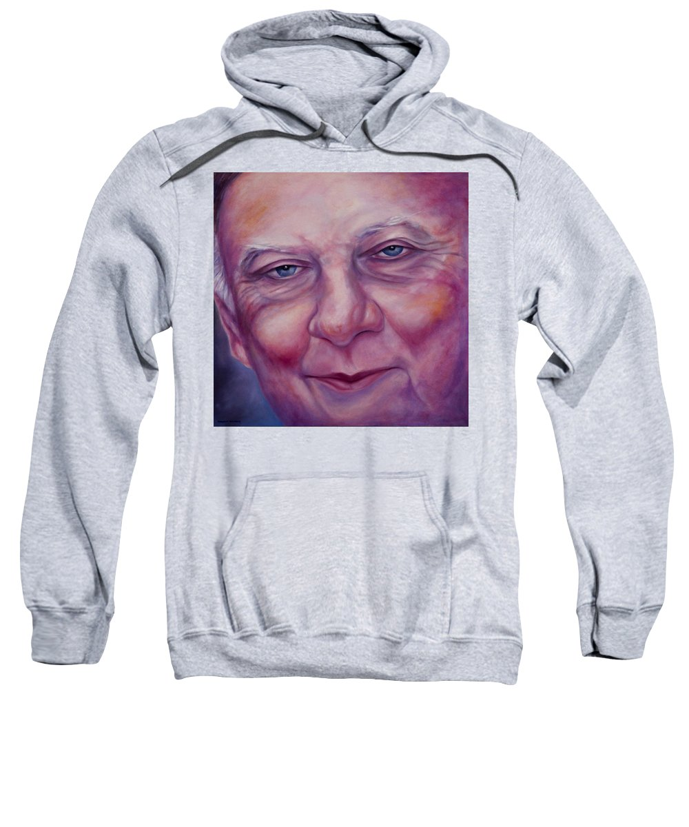 Man Sweatshirt featuring the painting Herman by Shannon Grissom