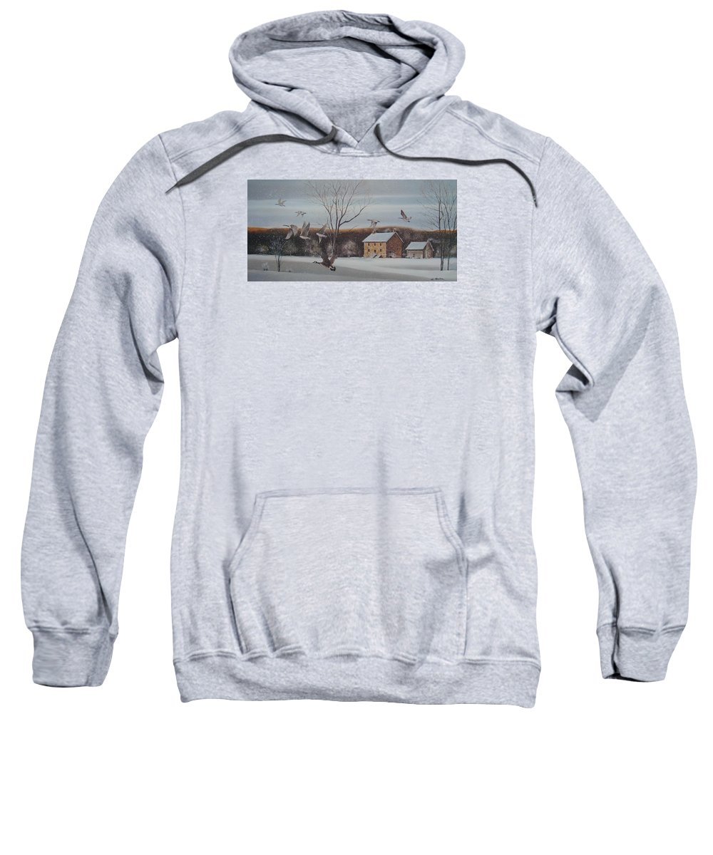 Charles Roy Smith Sweatshirt featuring the painting Hezakiah Alexander House by Charles Roy Smith