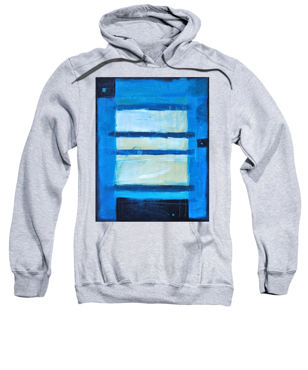 Abstract Sweatshirt featuring the painting Hidden Moon by Tim Nyberg