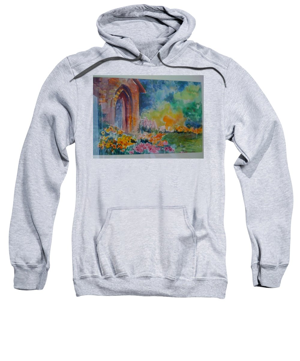 Landscape Sweatshirt featuring the painting Hideaway by Bella Altman