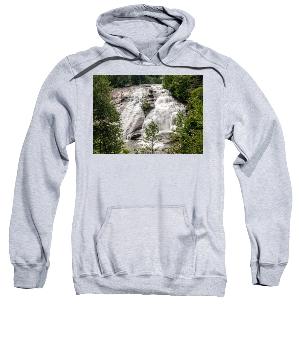 High Falls Sweatshirt featuring the photograph High Falls At Dupont Forest by Donald Spencer