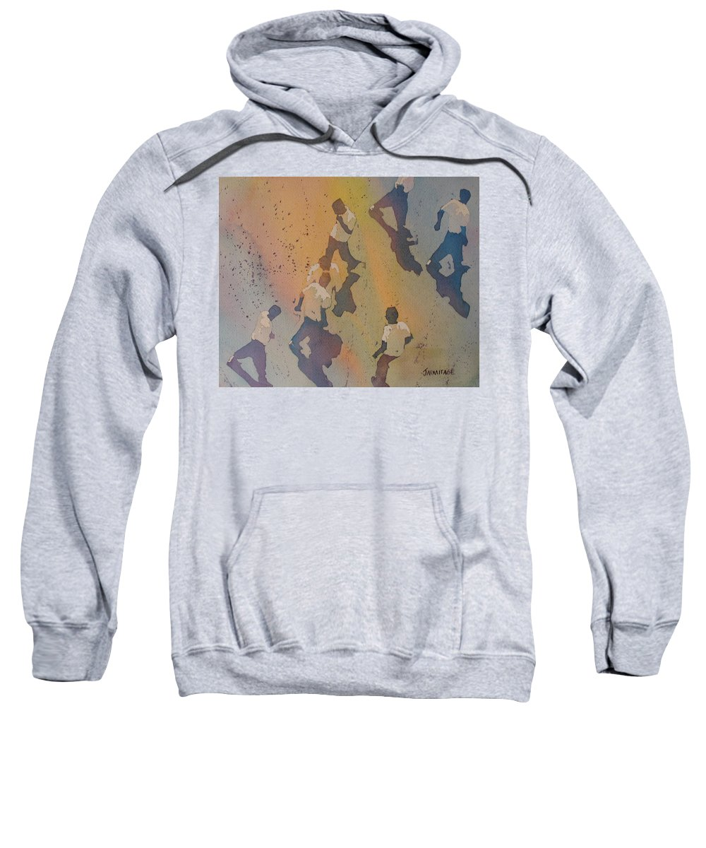 Men Sweatshirt featuring the painting High Noon At The Gravel Spit II by Jenny Armitage