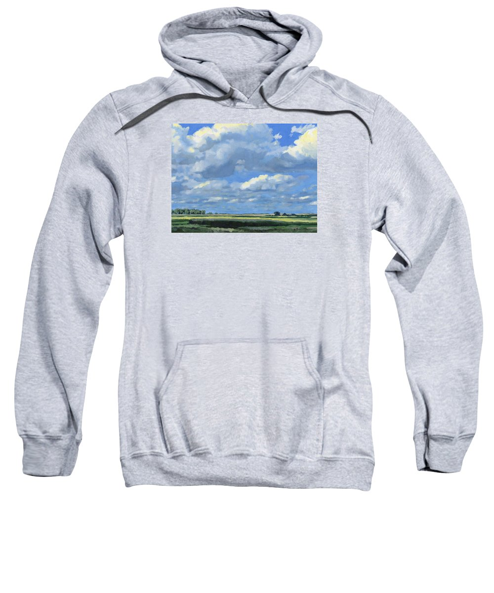 Landscape Sweatshirt featuring the painting High Summer by Bruce Morrison