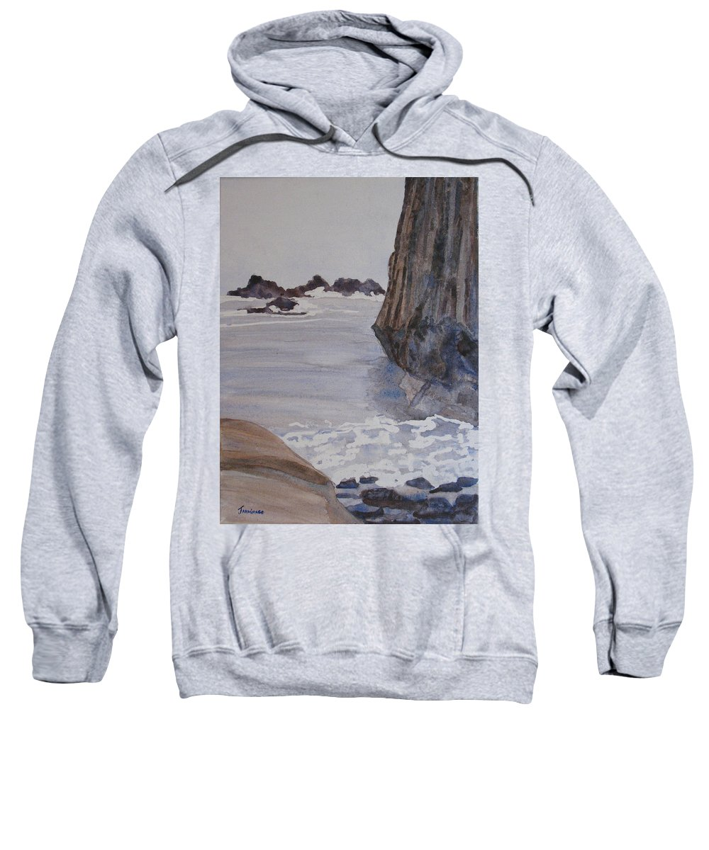 Seapcape. Seascapes Sweatshirt featuring the sculpture High Tide At Seal Rock by Jenny Armitage