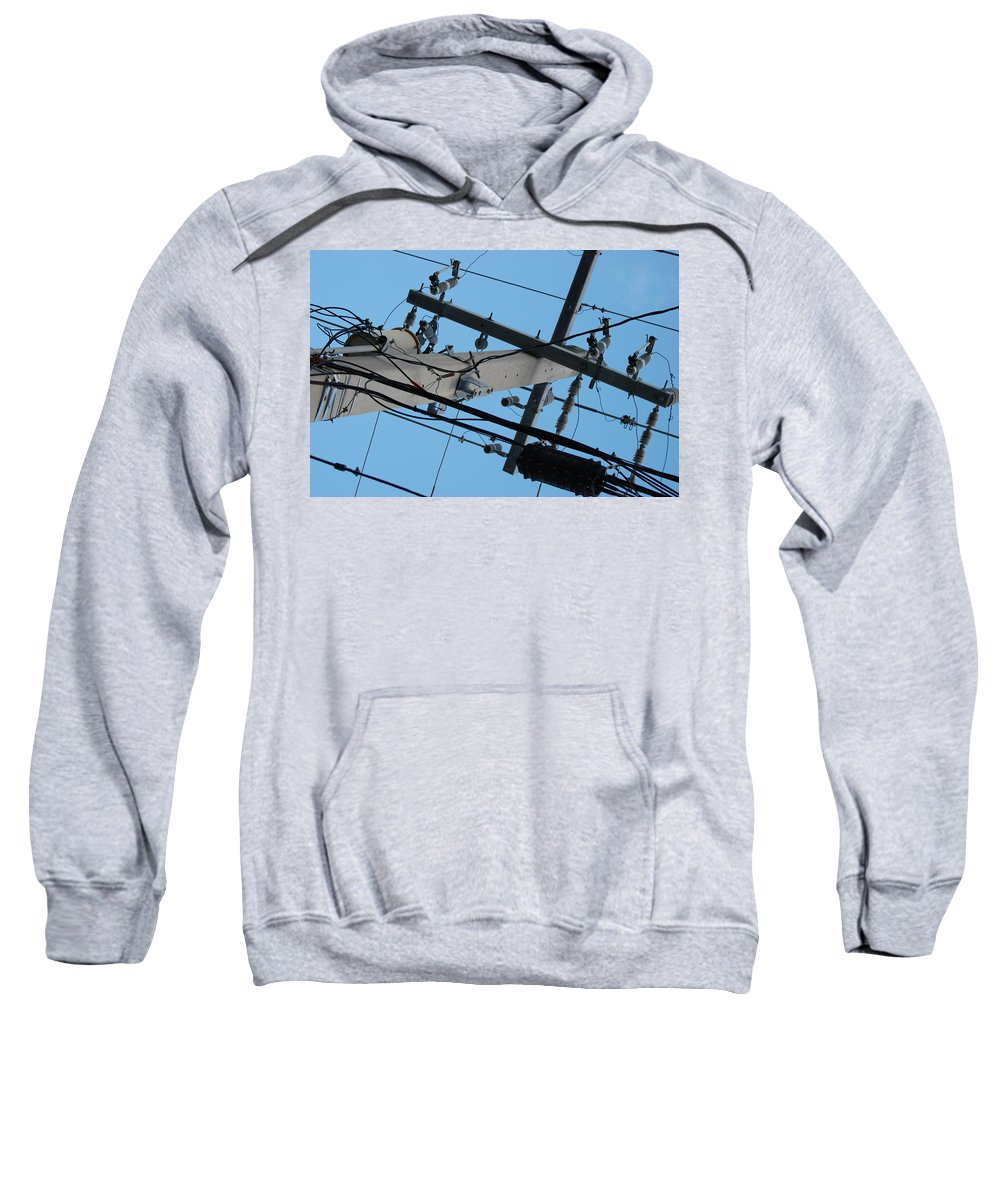 Sky Sweatshirt featuring the photograph High Wire by Rob Hans