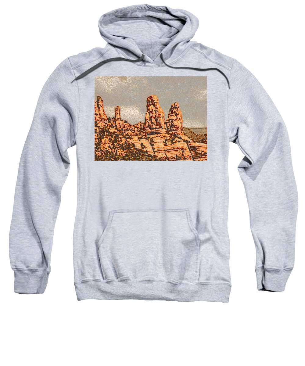 Altered Photography Sweatshirt featuring the photograph Hills In Sedona by Wayne Potrafka