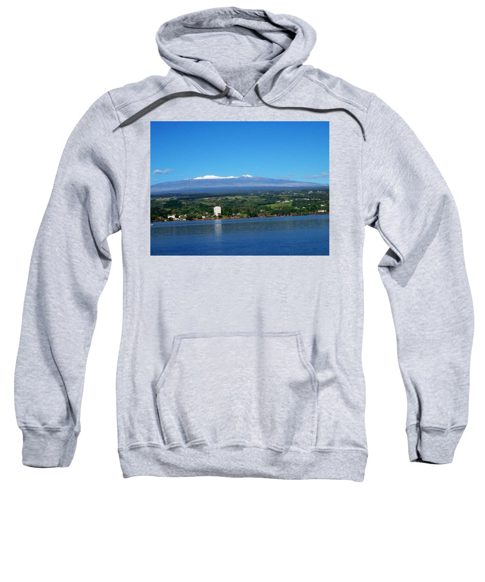 Hawaii Sweatshirt featuring the photograph Hilo Bay by Dina Holland