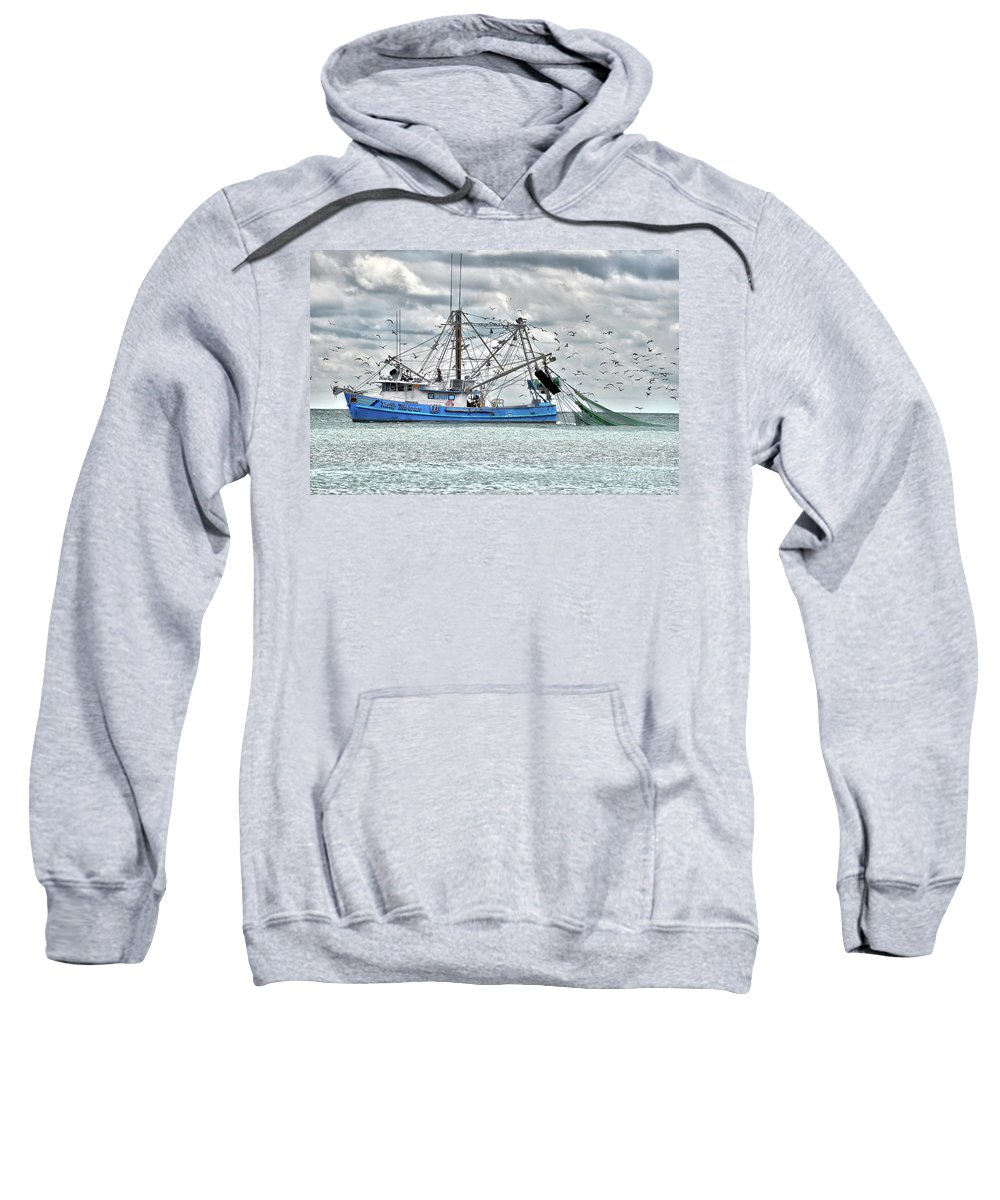 South Sweatshirt featuring the photograph Hilton Head Shrimper by Rod Farrell