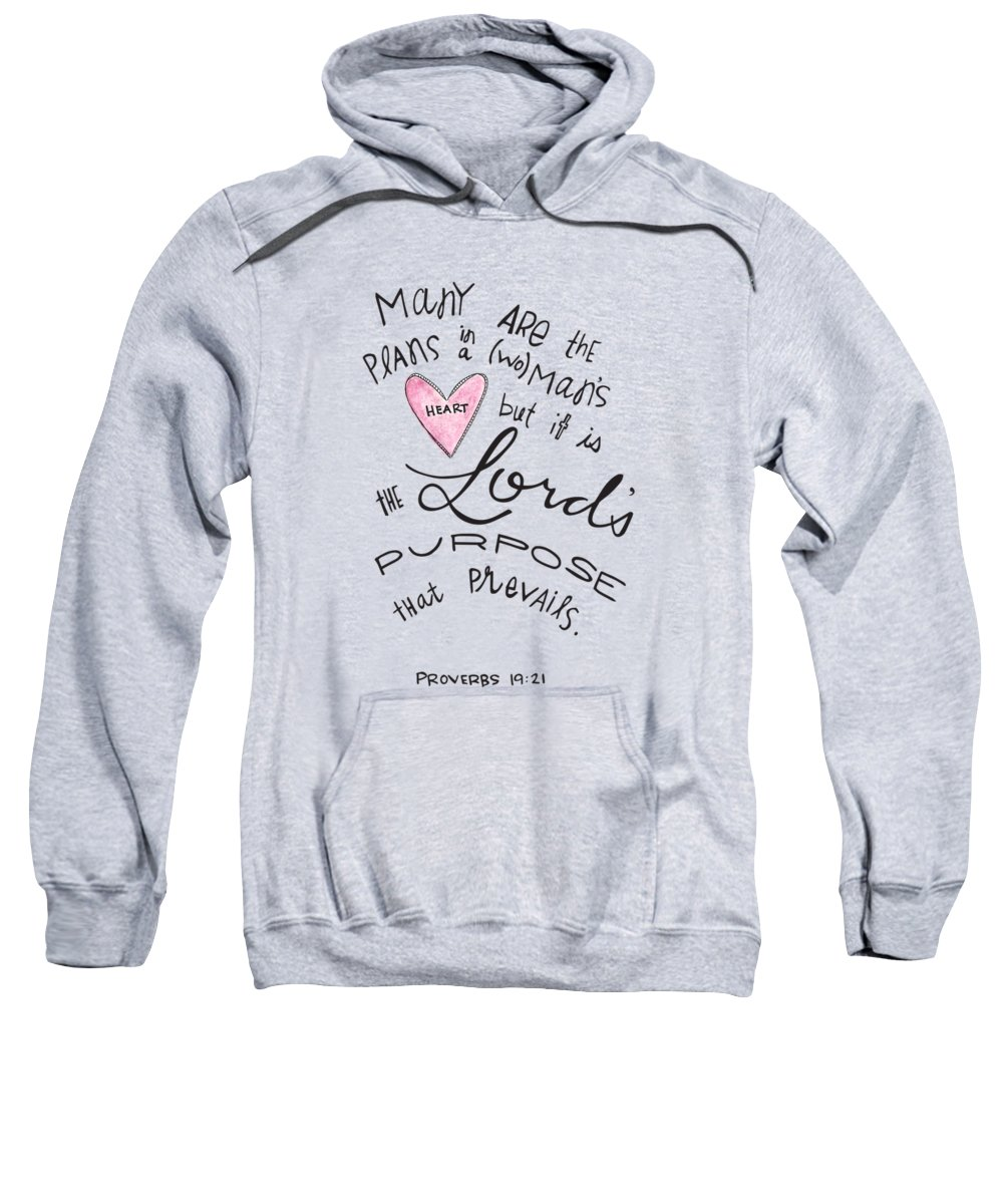 Faith Based Art Sweatshirt featuring the drawing His Purpose Prevails by Nancy Ingersoll