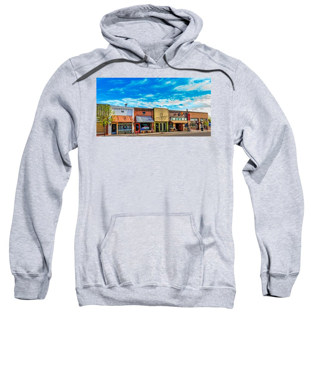 Architecture Sweatshirt featuring the photograph Historic Downtown Emmett 01 by Robert Bales