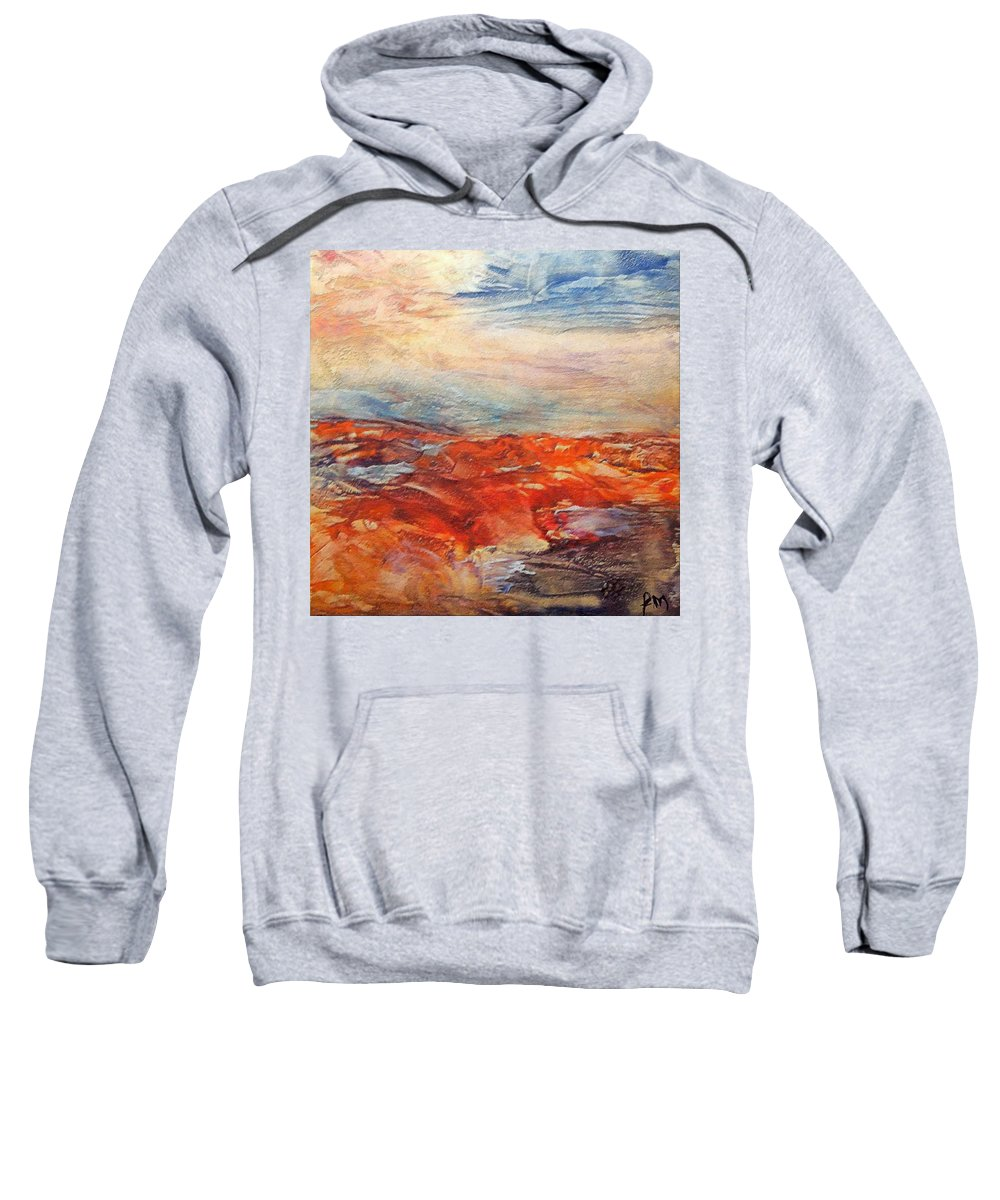 Abstract Landscape Sweatshirt featuring the painting Histria by Dragica Micki Fortuna