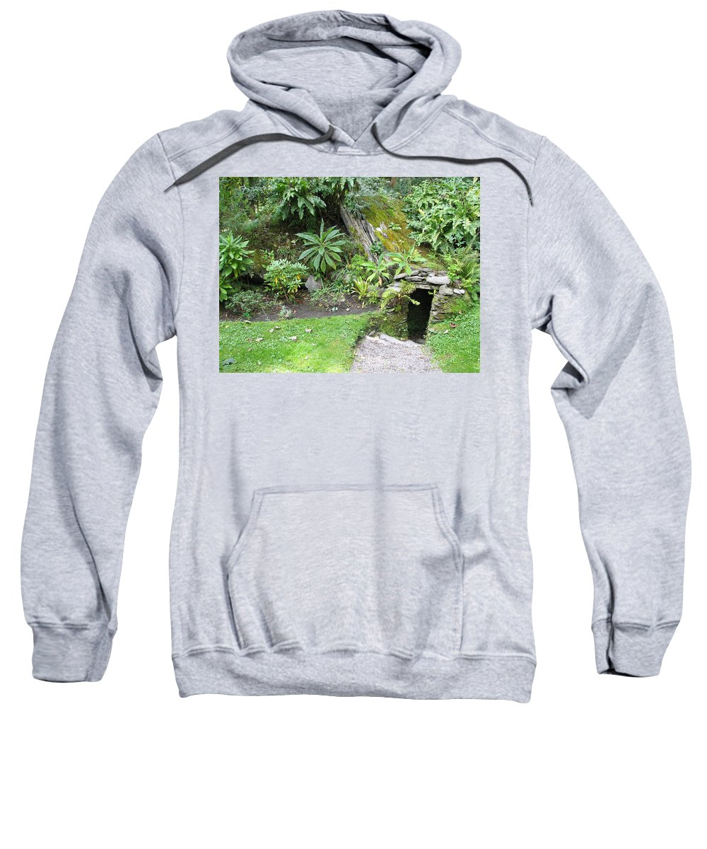 Hobbit Sweatshirt featuring the photograph Hobbit Home by Kelly Mezzapelle