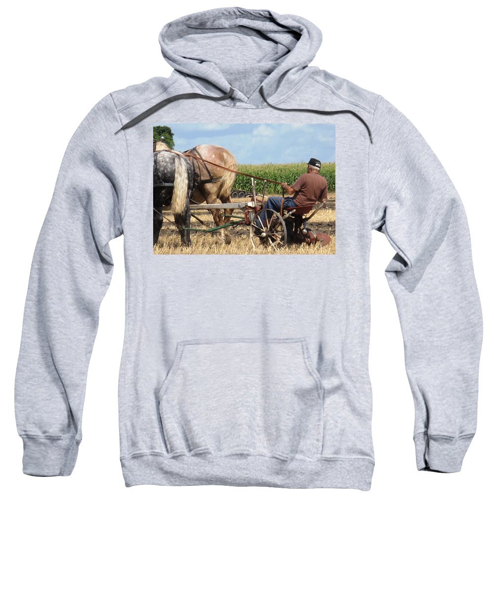 Horses Sweatshirt featuring the photograph Hold Your Horses by Ian MacDonald