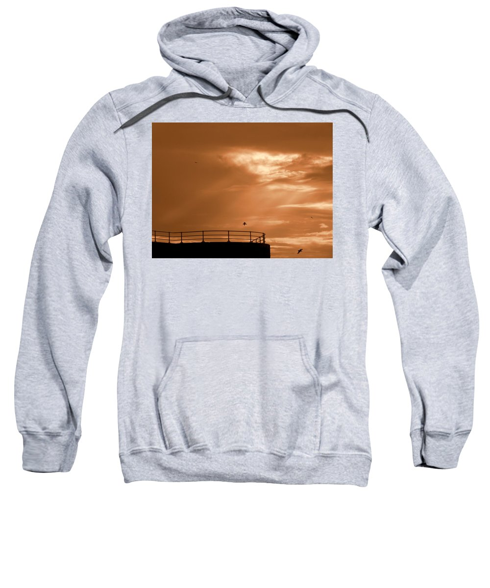 Nature/sky Sweatshirt featuring the photograph Hole In The Clouds by Phil Panton