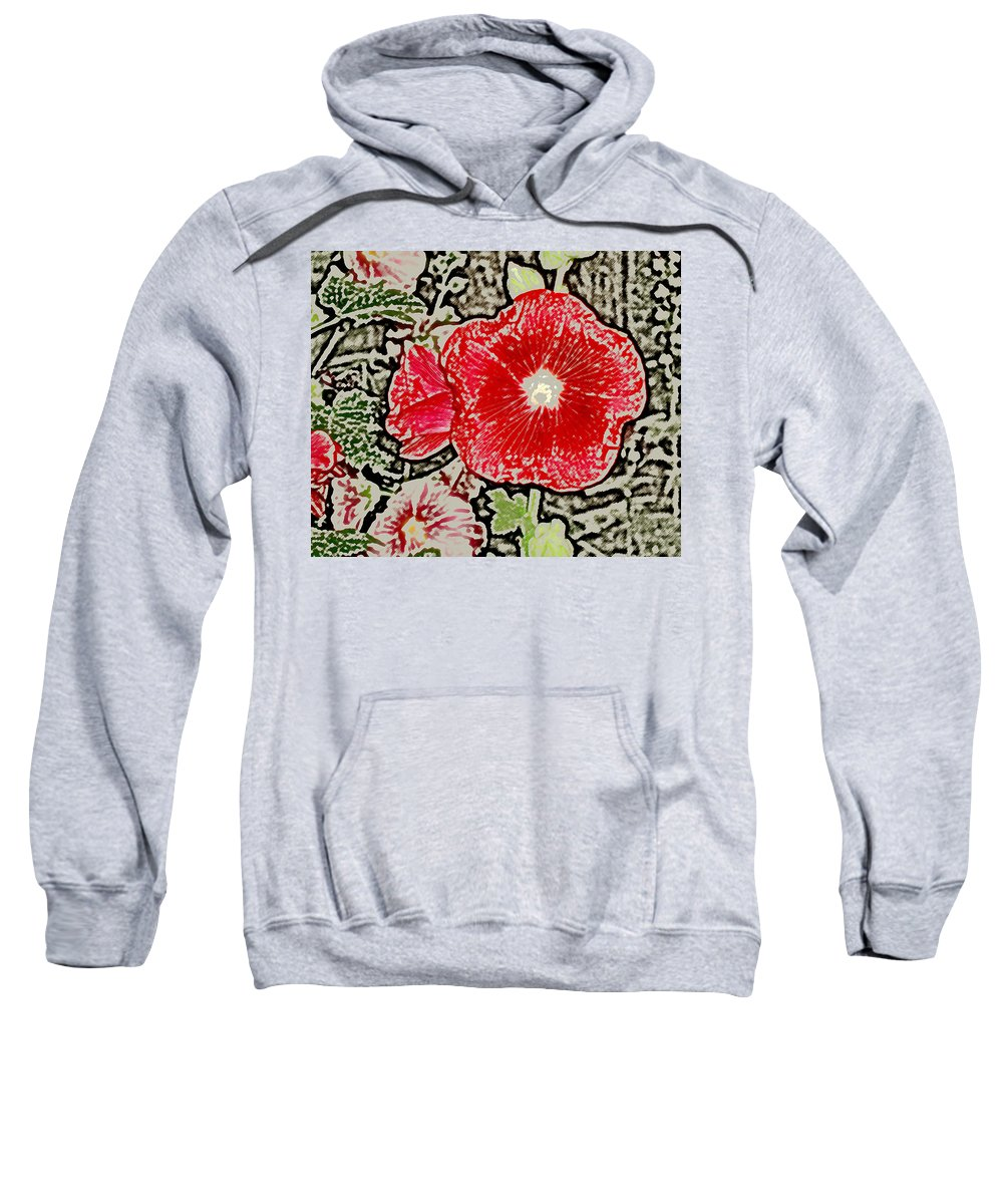 Flower Sweatshirt featuring the photograph Hollyhock by Wayne Potrafka