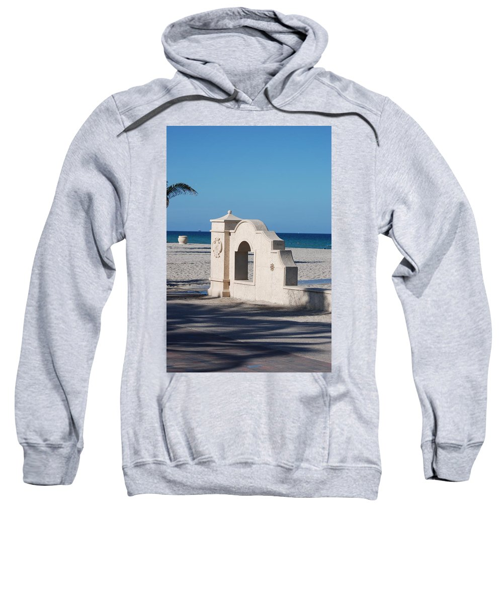 Beach Sweatshirt featuring the photograph Hollywood Beach Wall In Color by Rob Hans