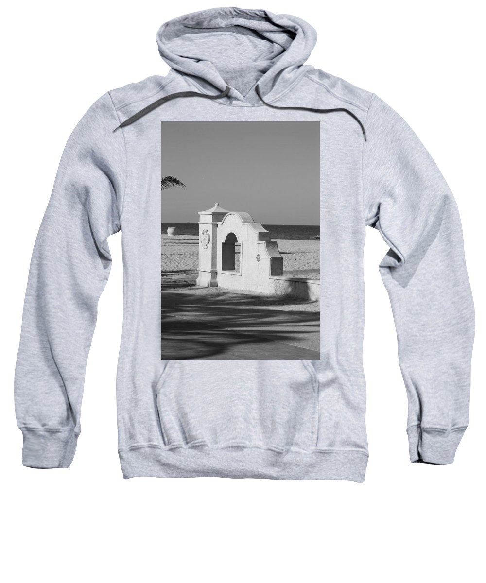 Black And White Sweatshirt featuring the photograph Hollywood Beach Wall by Rob Hans