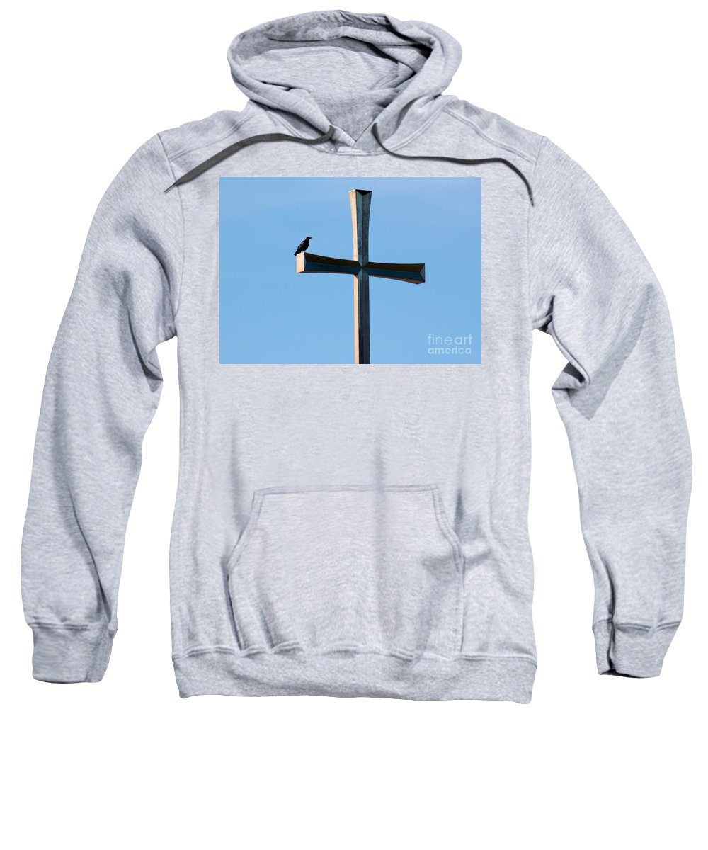 Crow Sweatshirt featuring the photograph Holy Crow by Robert Wilder Jr