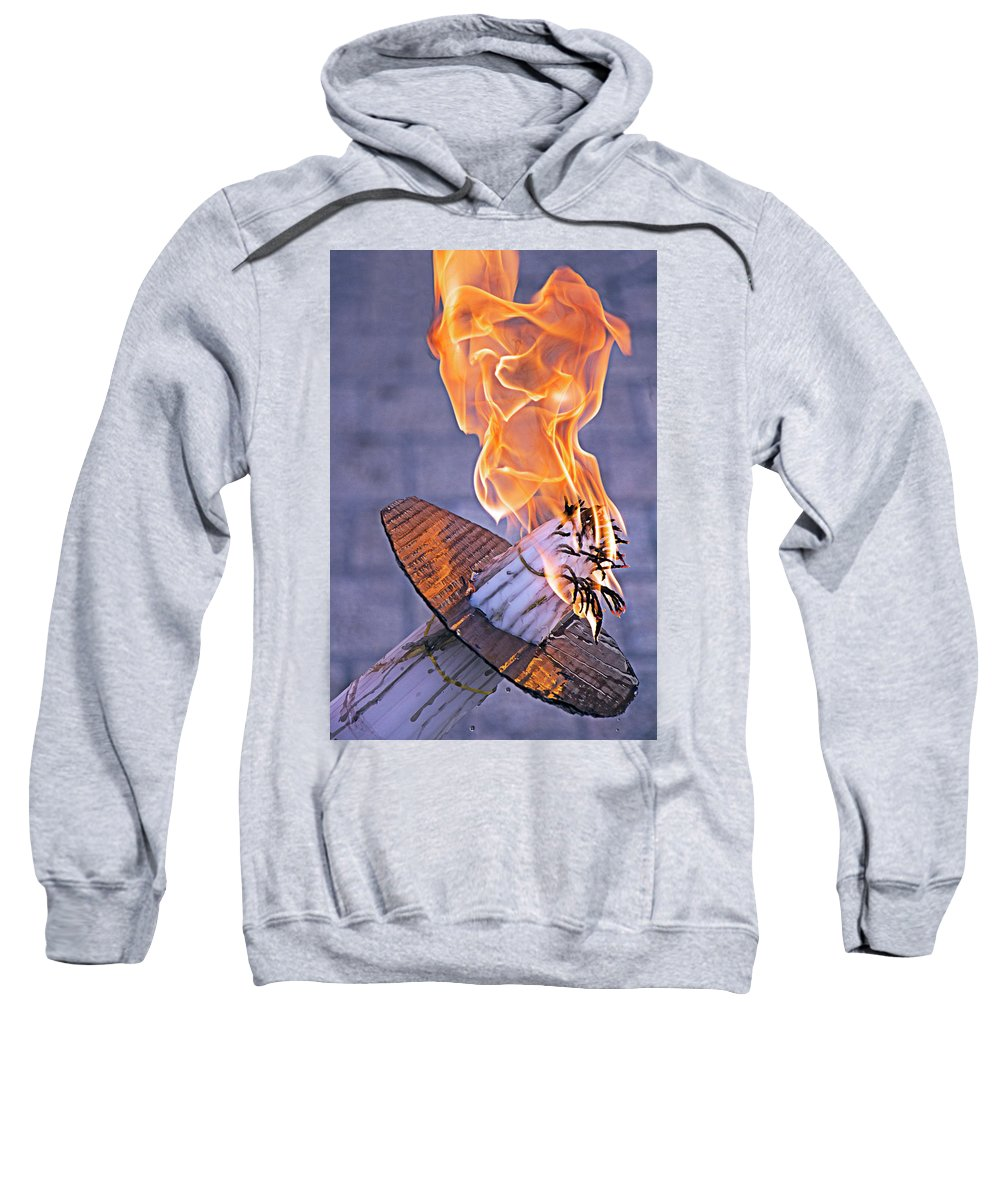 Holy Fire Sweatshirt featuring the photograph Holy Fire by Munir Alawi