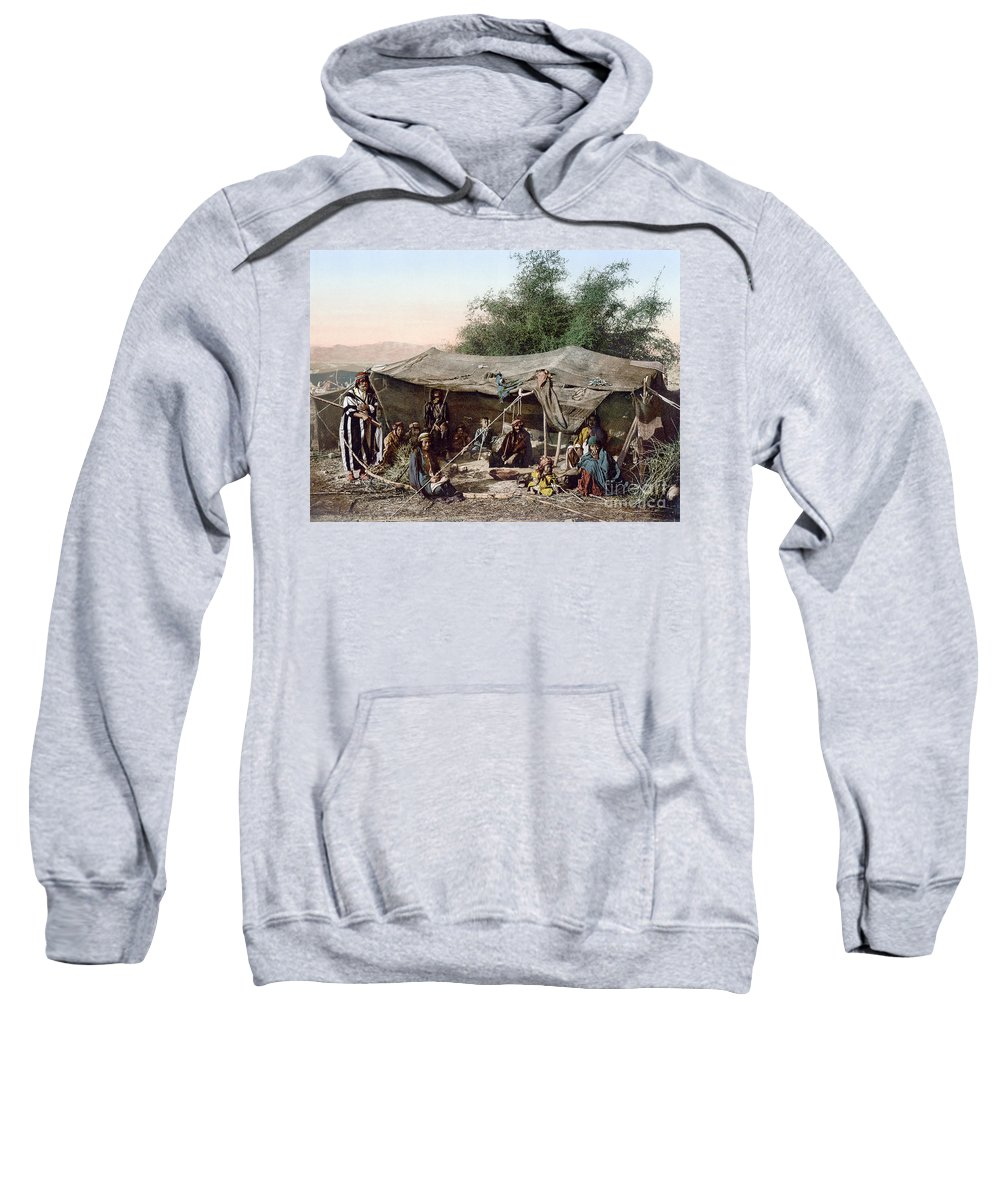 1890s Sweatshirt featuring the photograph Holy Land: Bedouin Camp by Granger