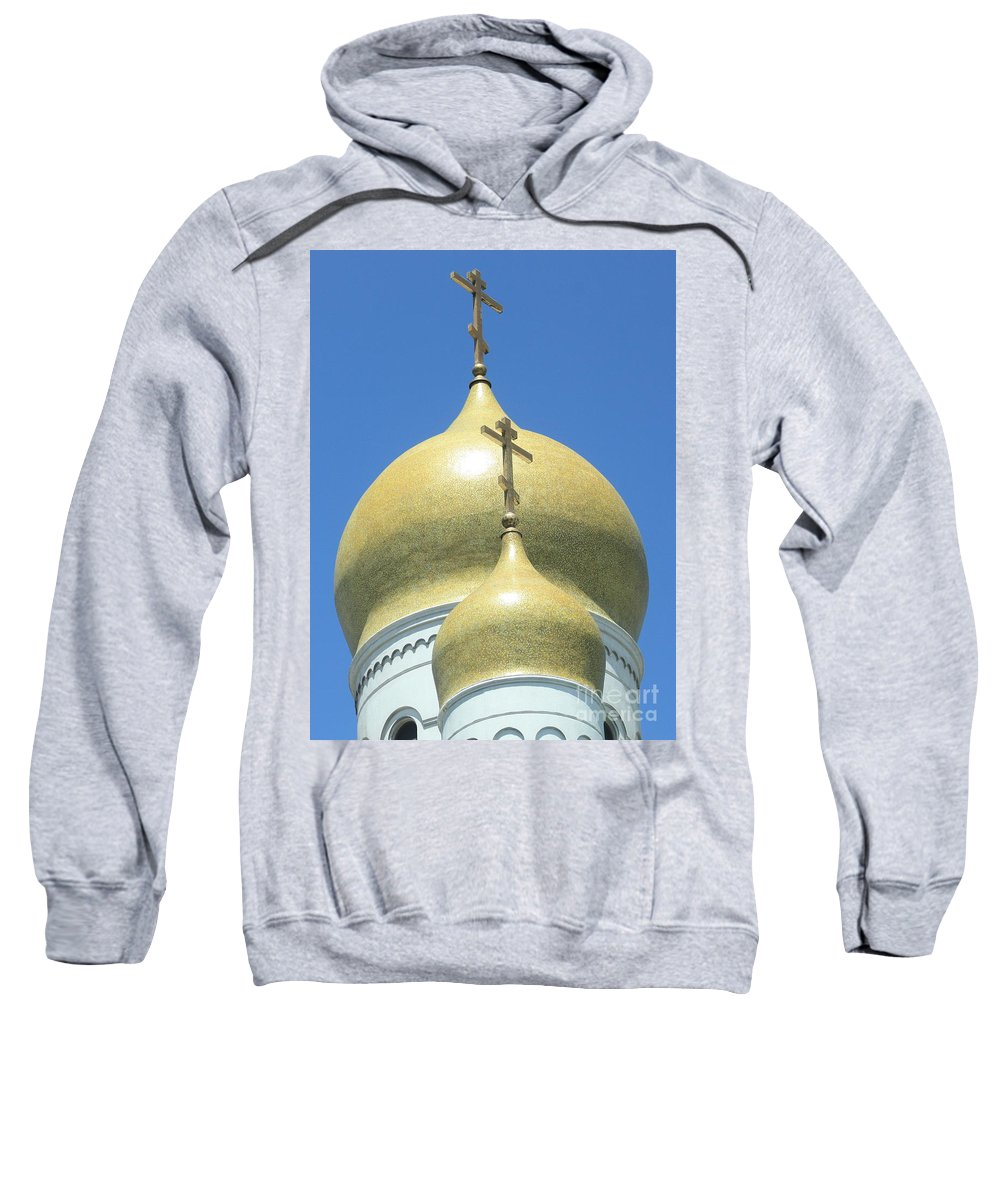 Holy Virgin Cathedral Sweatshirt featuring the photograph Holy Virgin Cathedral In San Francisco by Carol Groenen