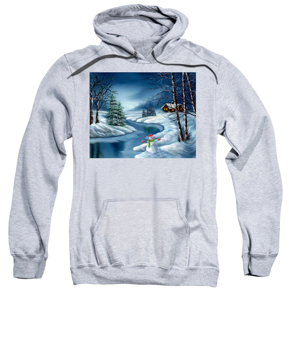 Holidays Sweatshirt featuring the painting Home For The Holidays by Daniel Carvalho