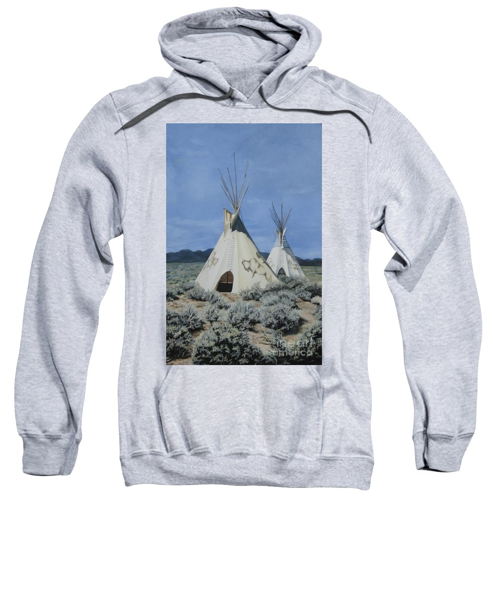 Art Sweatshirt featuring the painting Home On The Range by Mary Rogers