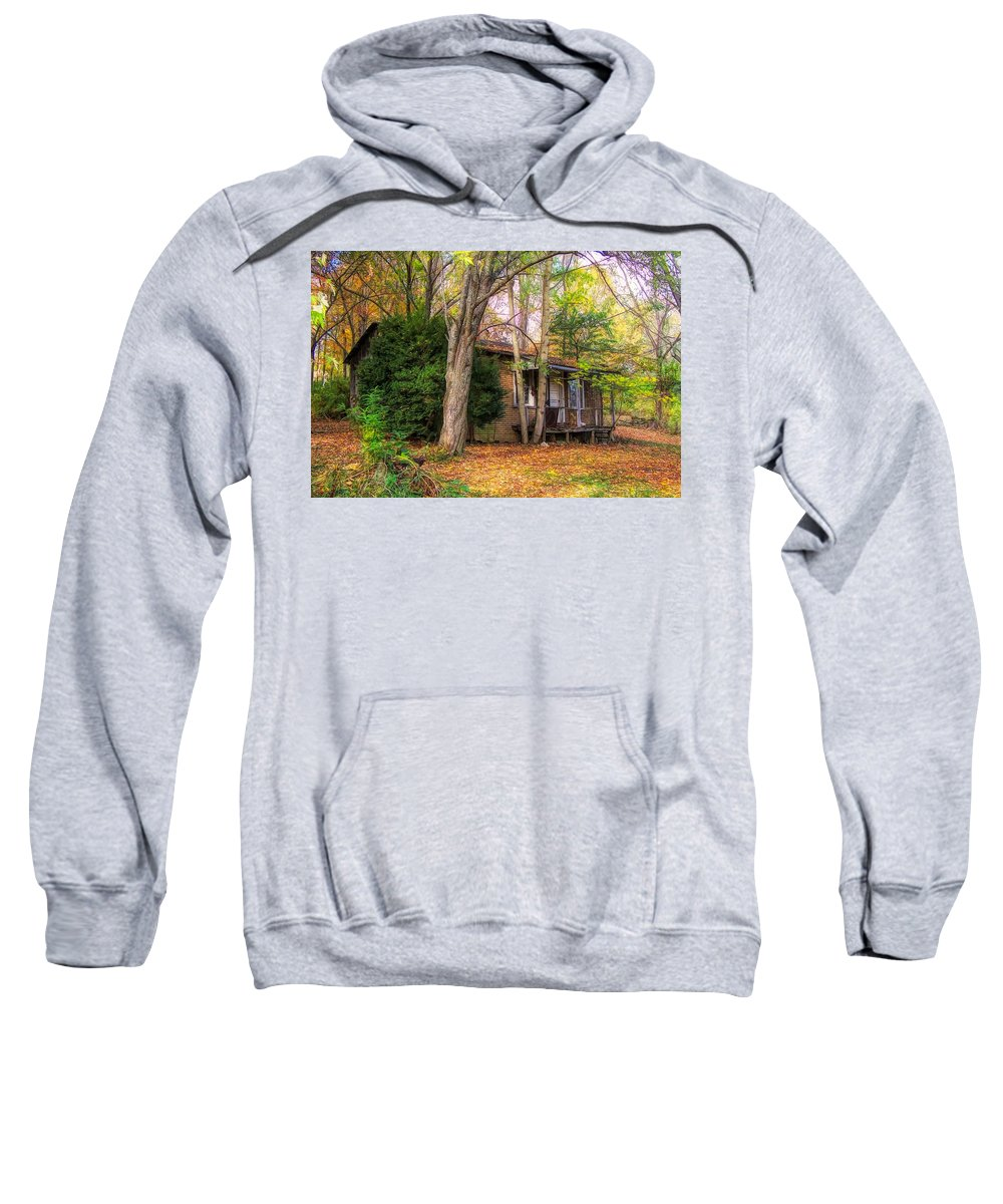Ww Ll Sweatshirt featuring the mixed media Home Sweet Home 1945 by B Wayne Mullins