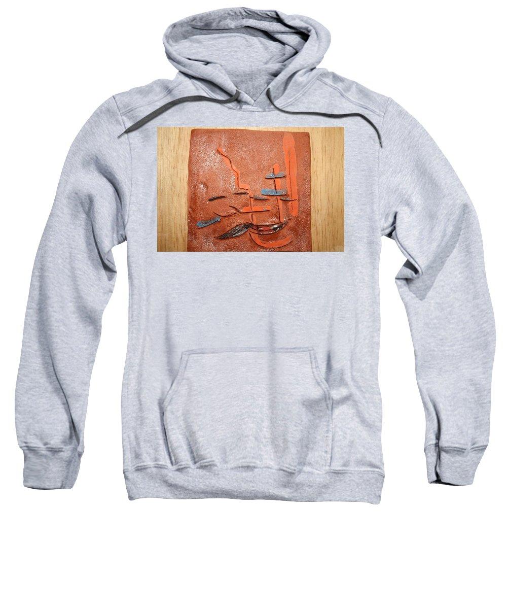 Jesus Sweatshirt featuring the ceramic art Homegal - Tile by Gloria Ssali