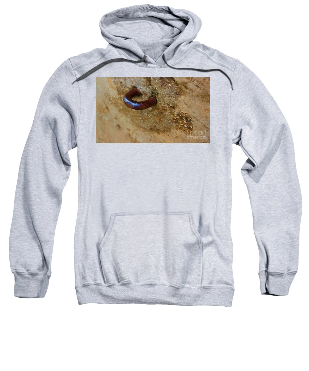 Concrete Sweatshirt featuring the photograph Hooked by Debbi Granruth