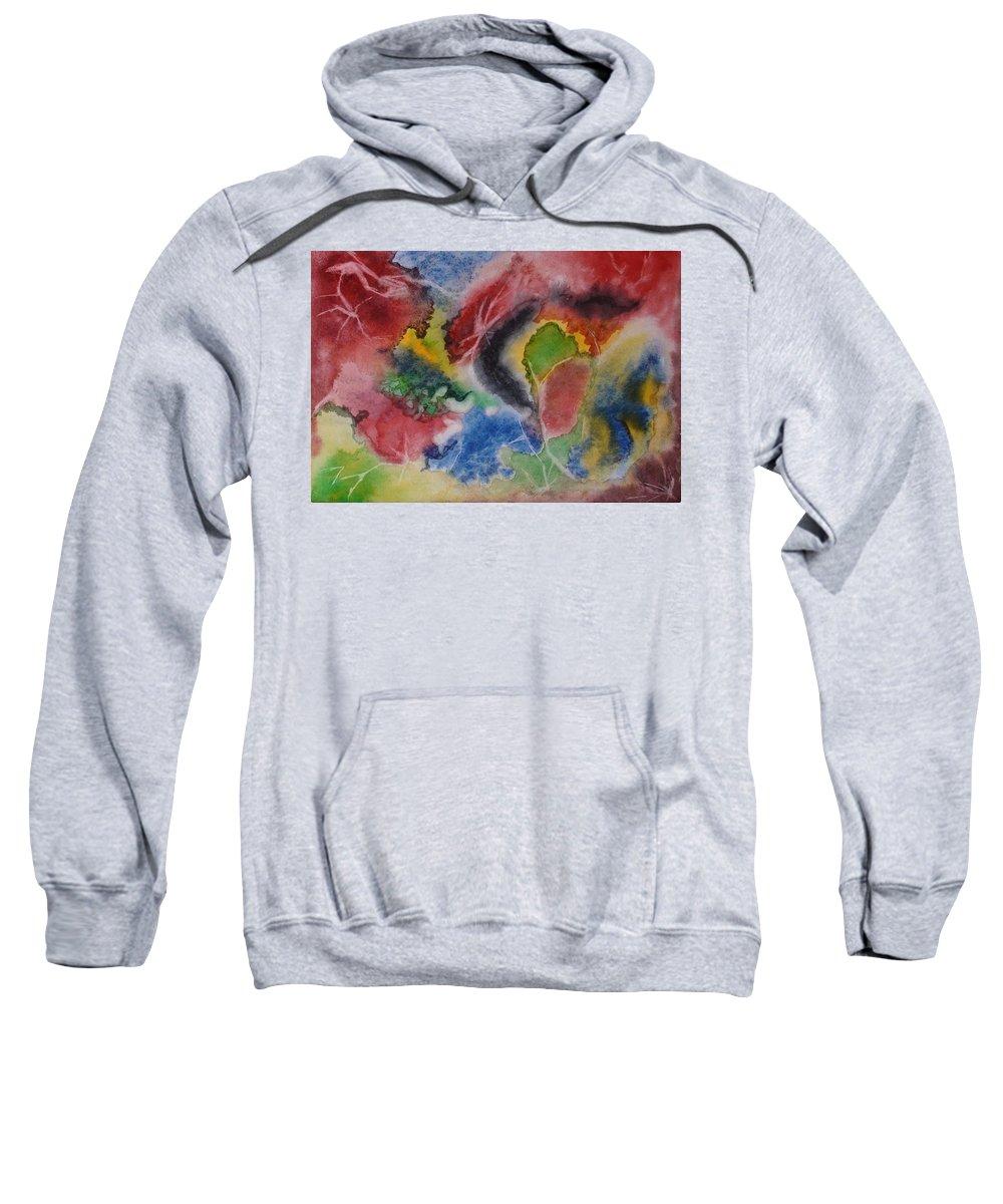 Abstract Painting Sweatshirt featuring the painting Hope Energy by Georgeta Blanaru