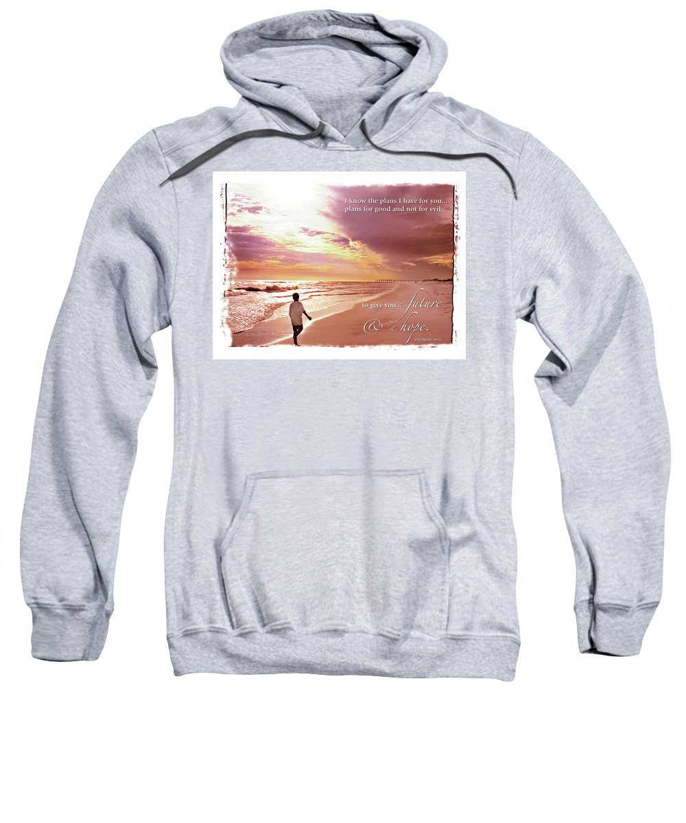 Boy Sweatshirt featuring the photograph Horizon Of Hope by Marie Hicks
