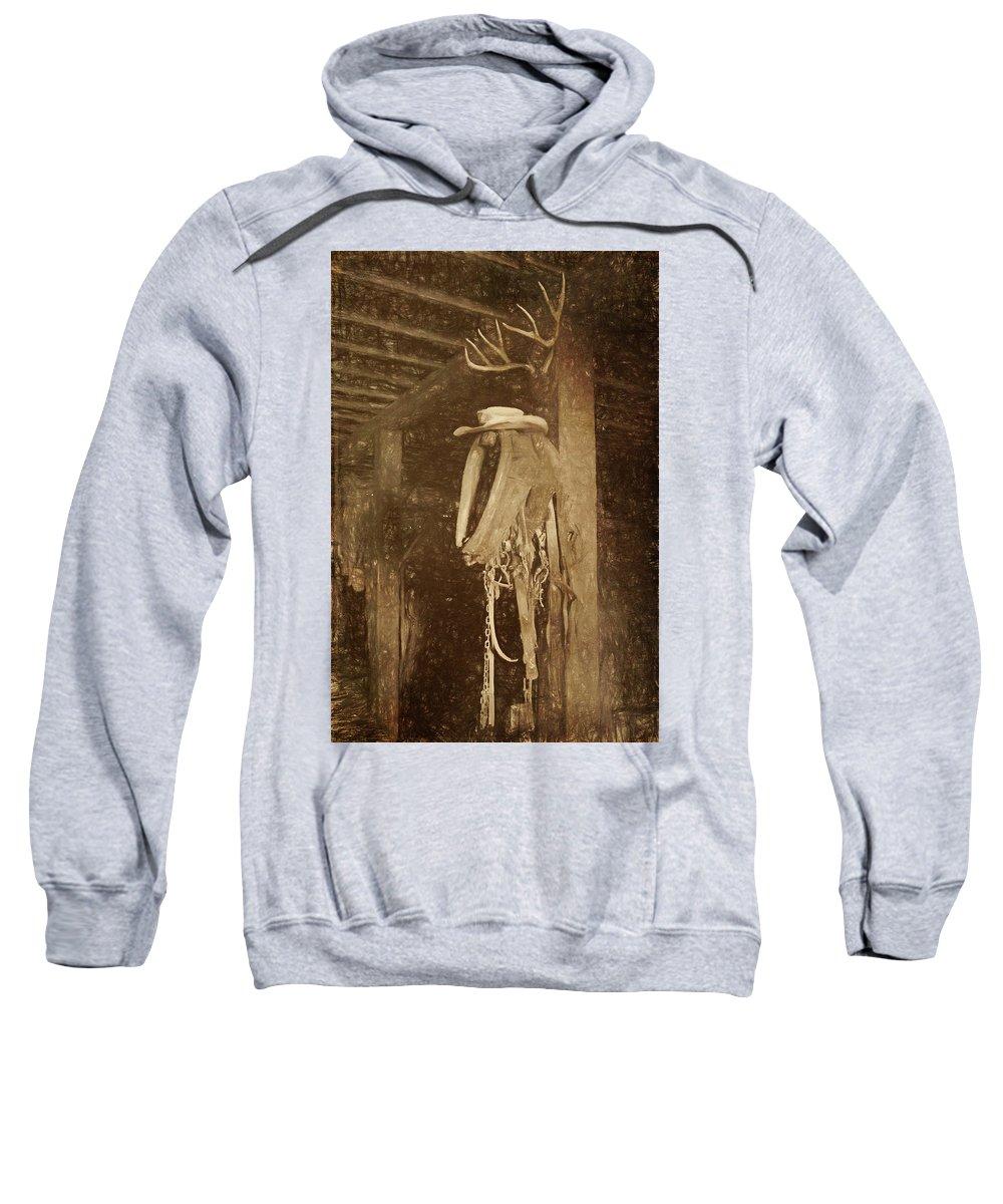 Horse Collar Sweatshirt featuring the photograph Horse Collar - Hat by Nikolyn McDonald
