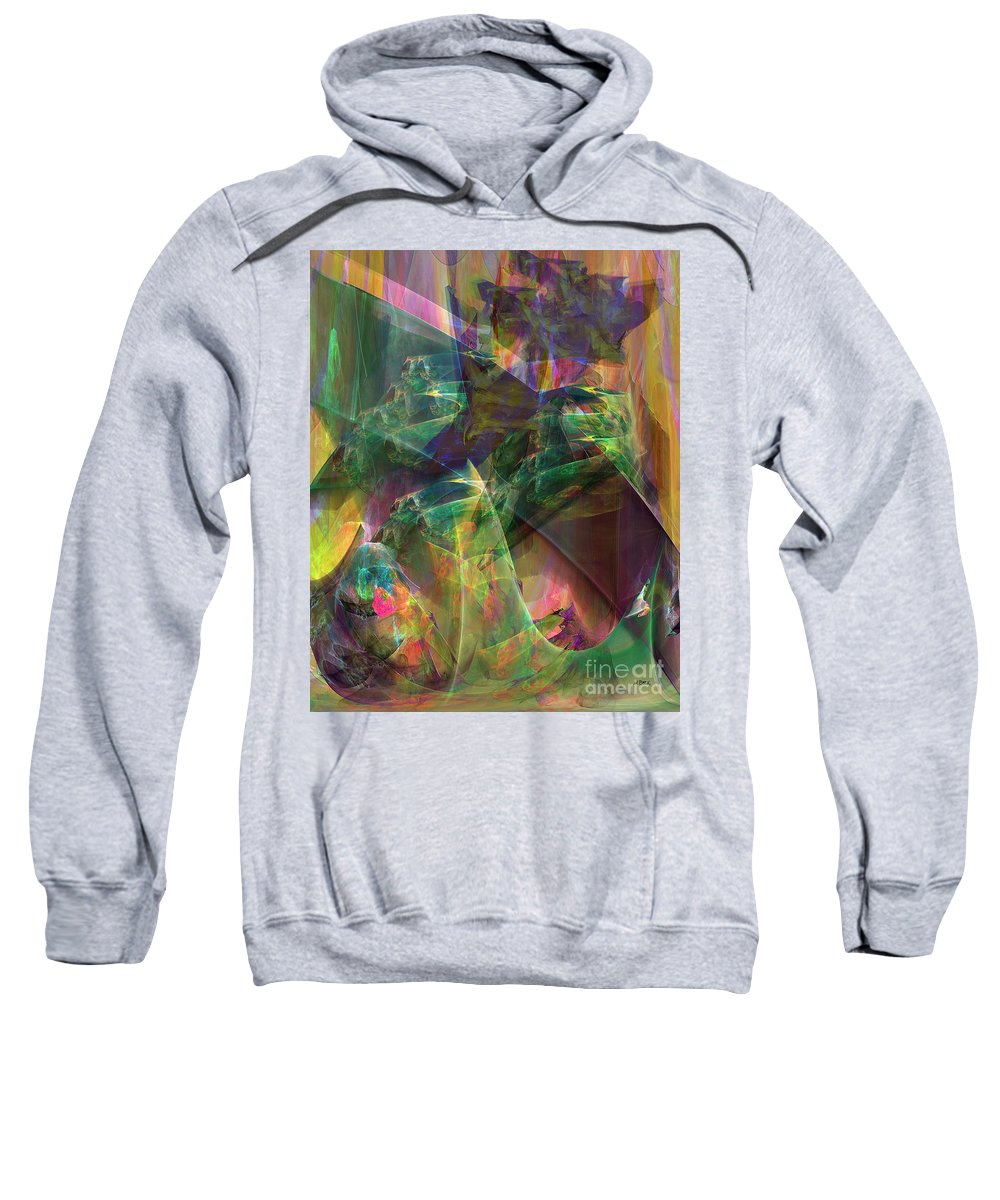 Horse Feathers Sweatshirt featuring the digital art Horse Feathers by John Beck