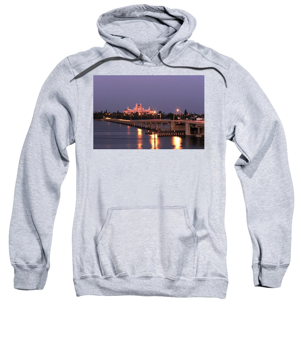 Don Cesar Sweatshirt featuring the photograph Hotel Don Cesar The Pink Palace St Petes Beach Florida by Mal Bray