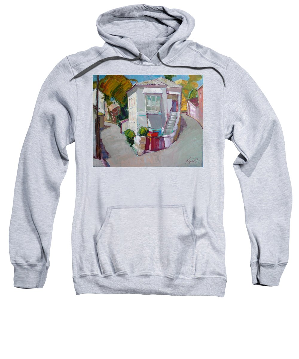 Ignatenko Sweatshirt featuring the painting Hous In Crimea by Sergey Ignatenko