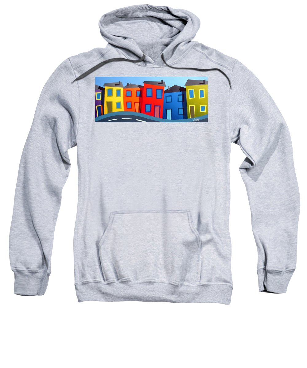 Dylan Cotton Sweatshirt featuring the painting House Party 12 by Dylan Cotton