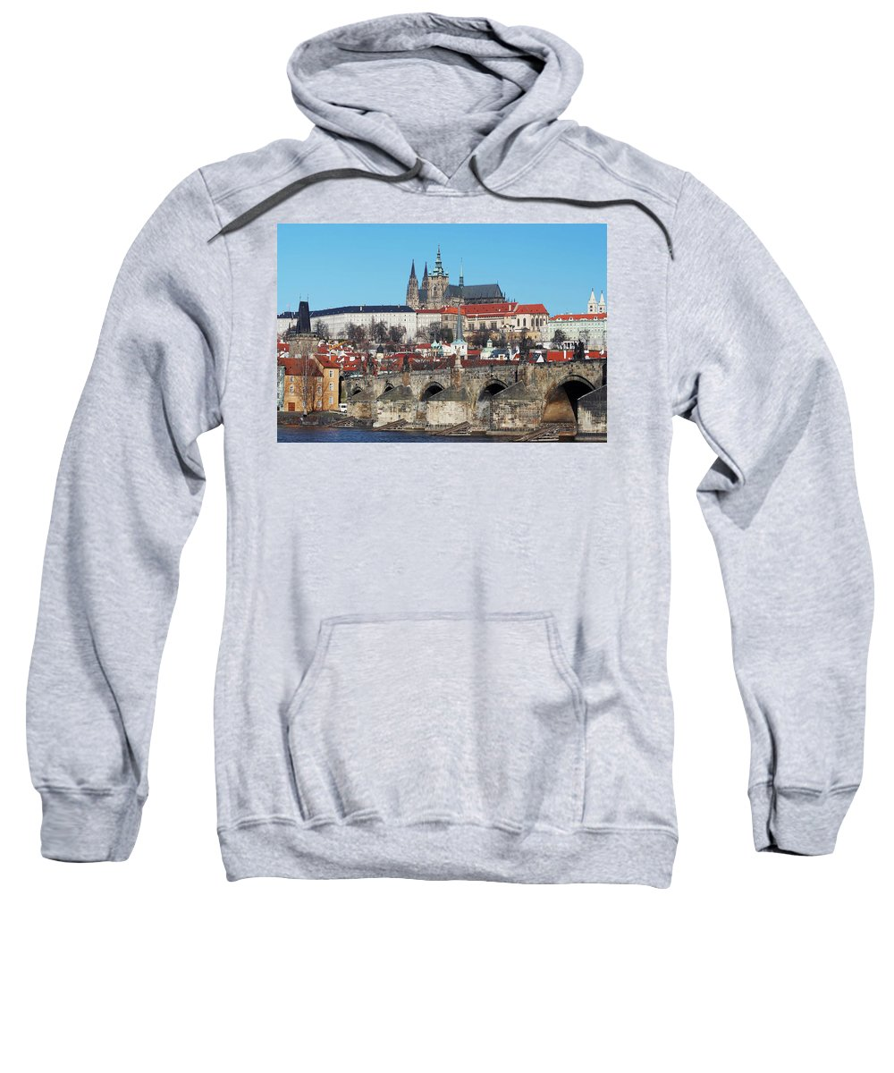Rare Sweatshirt featuring the photograph Hradcany - Cathedral Of St Vitus And Charles Bridge by Michal Boubin
