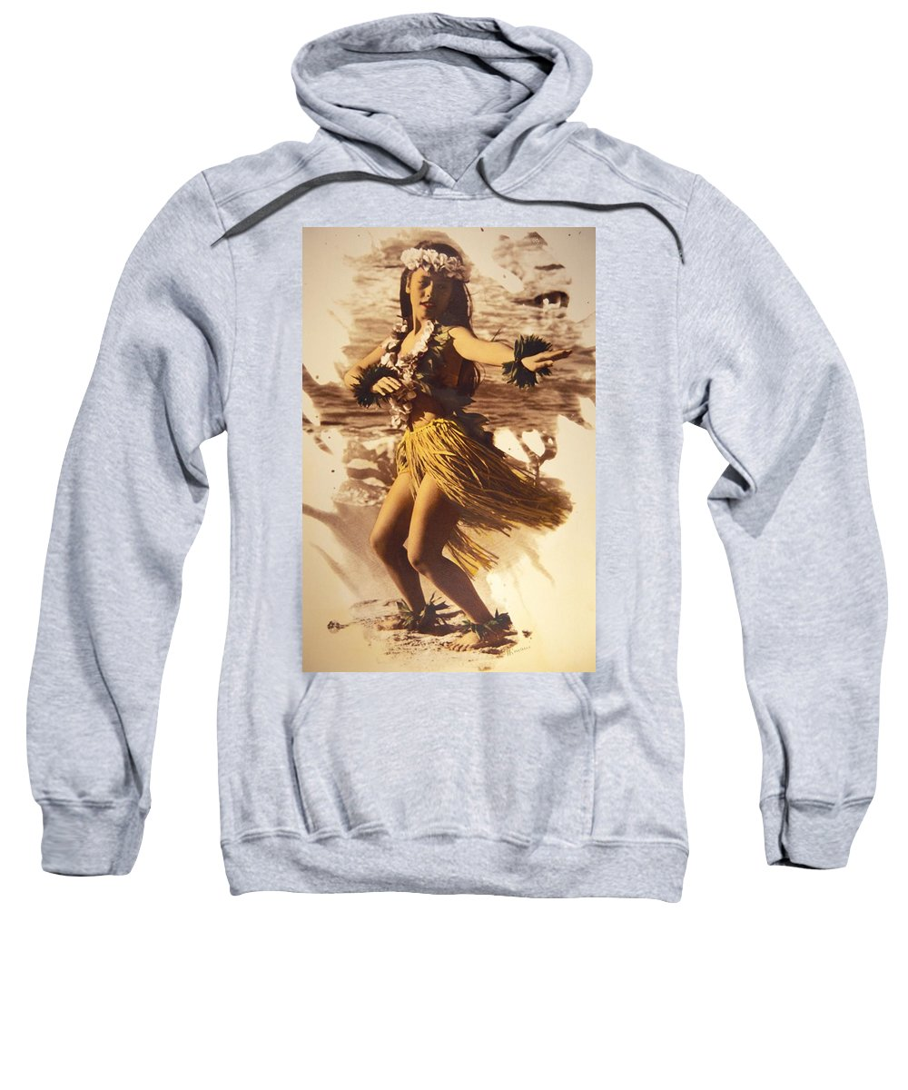 Ancient Sweatshirt featuring the photograph Hula On The Beach by Himani - Printscapes