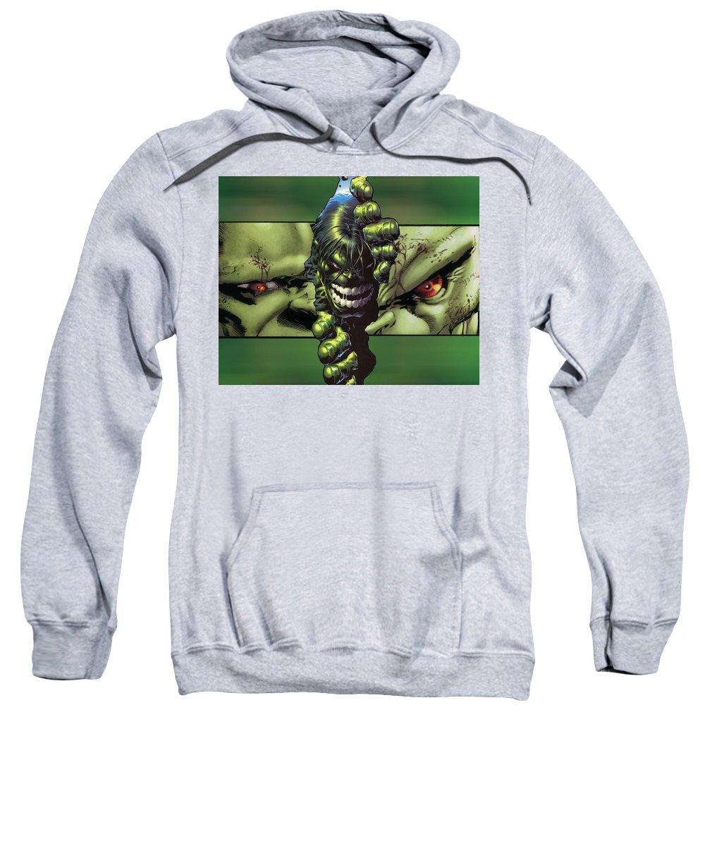 Hulk Sweatshirt featuring the digital art Hulk by Bert Mailer