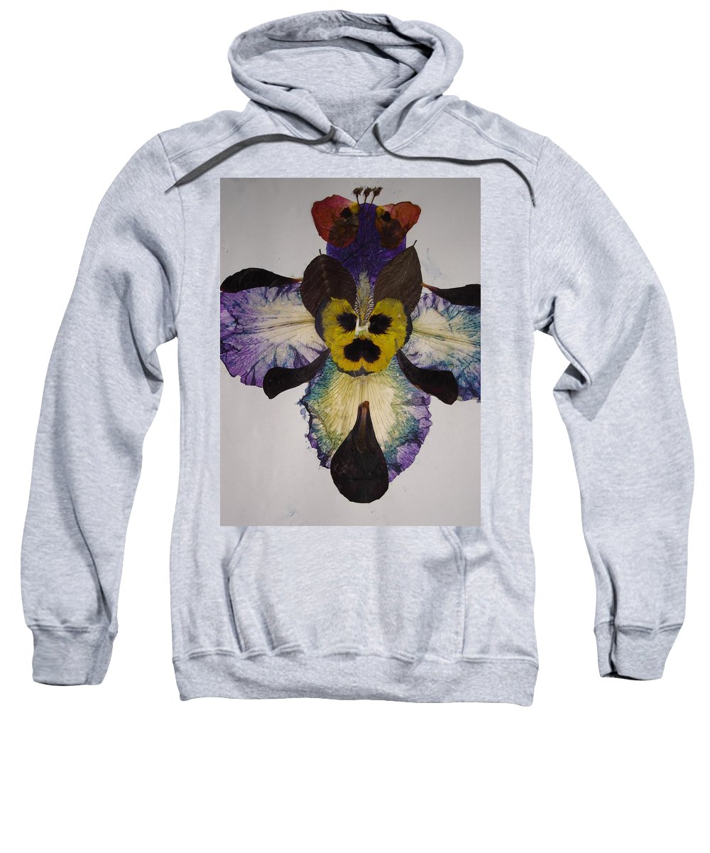 Flower-vision Sweatshirt featuring the mixed media Human Insect by Basant Soni