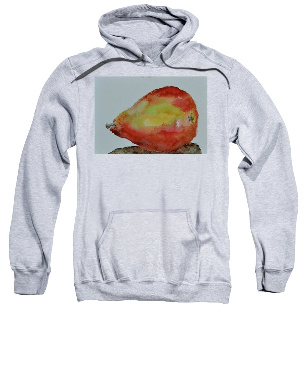 Pear Sweatshirt featuring the painting Humble Pear by Beverley Harper Tinsley