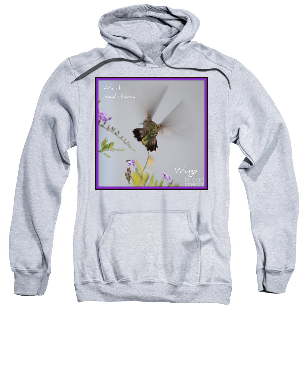 Digital Art Sweatshirt featuring the photograph Hummingbird Wings by Carol Groenen
