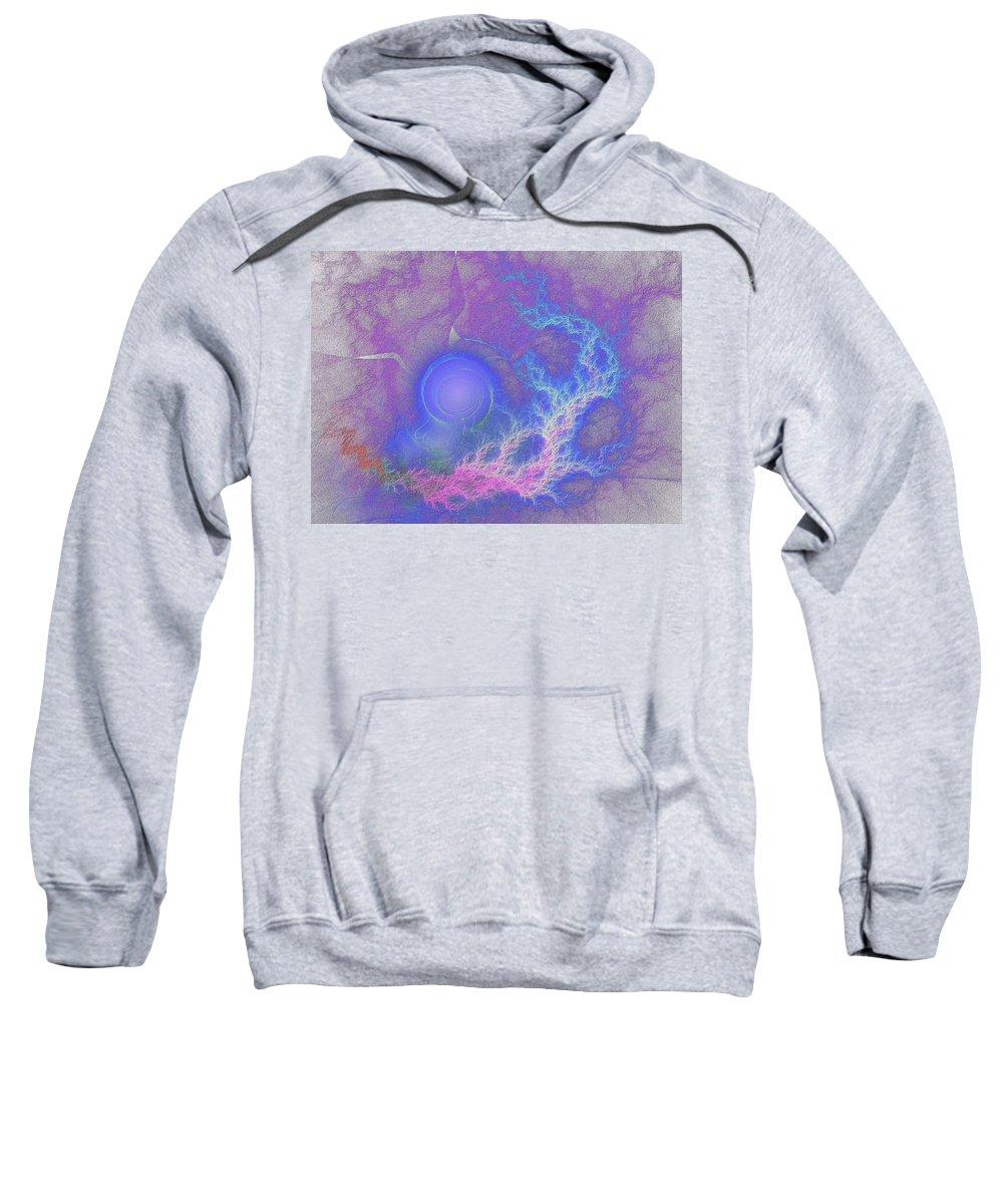 Fractal Sweatshirt featuring the digital art Humor Me by Lyle Hatch