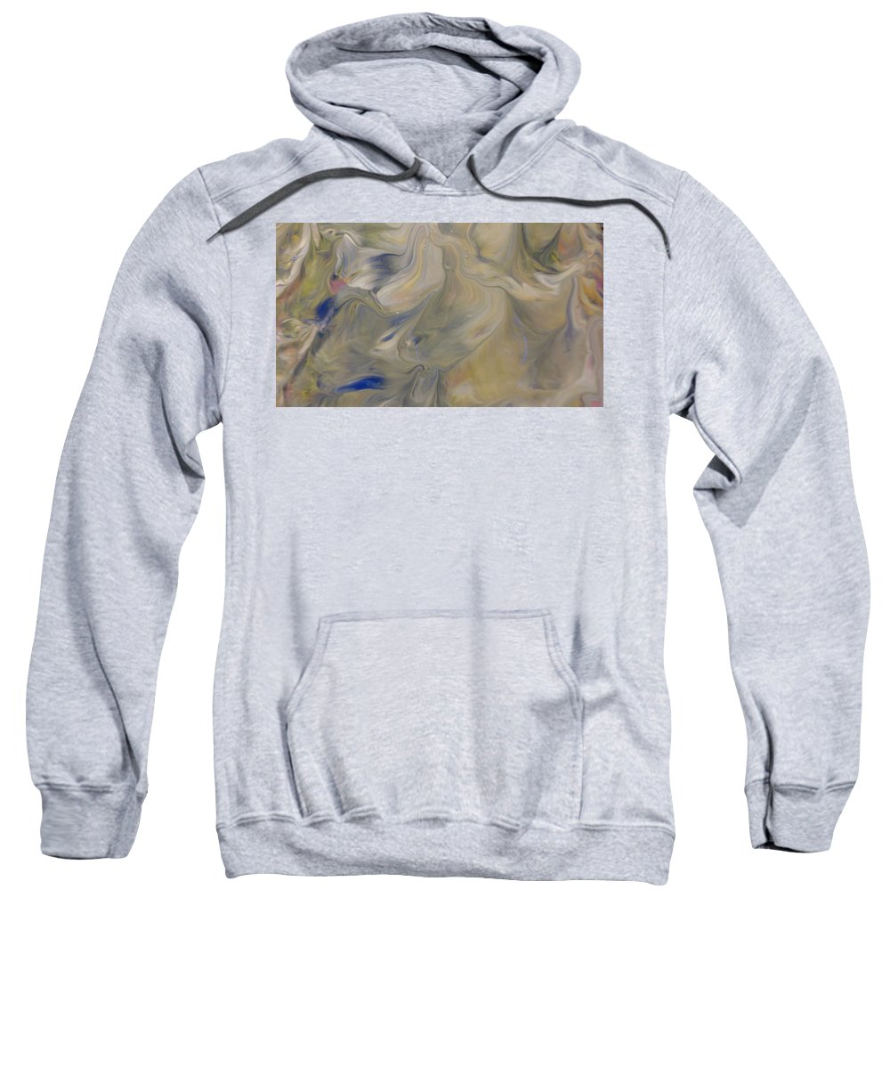 Abstract Sweatshirt featuring the painting Hush by C Maria Wall
