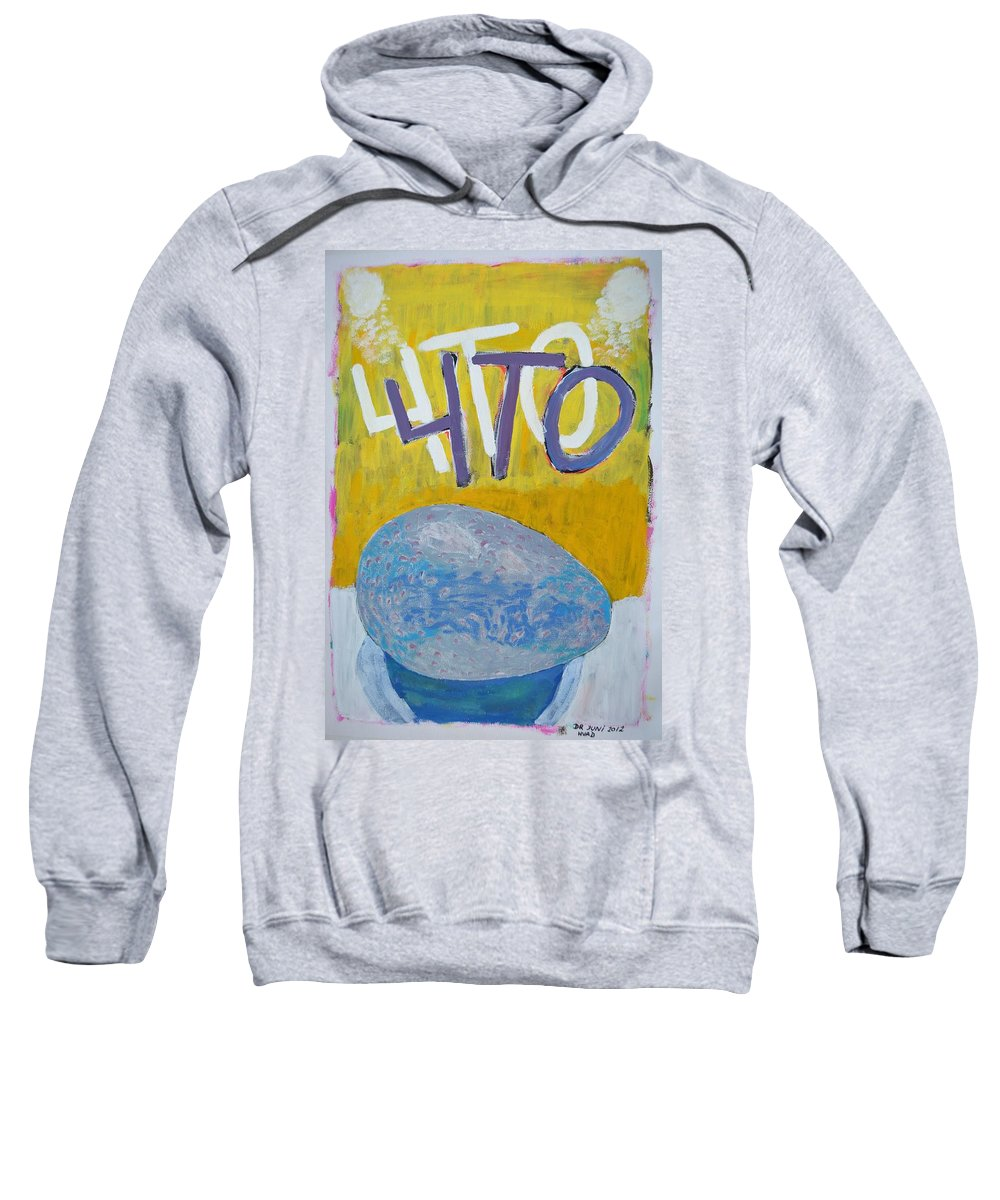 Sweatshirt featuring the painting Hvad 2012 by Dan Rasmussen