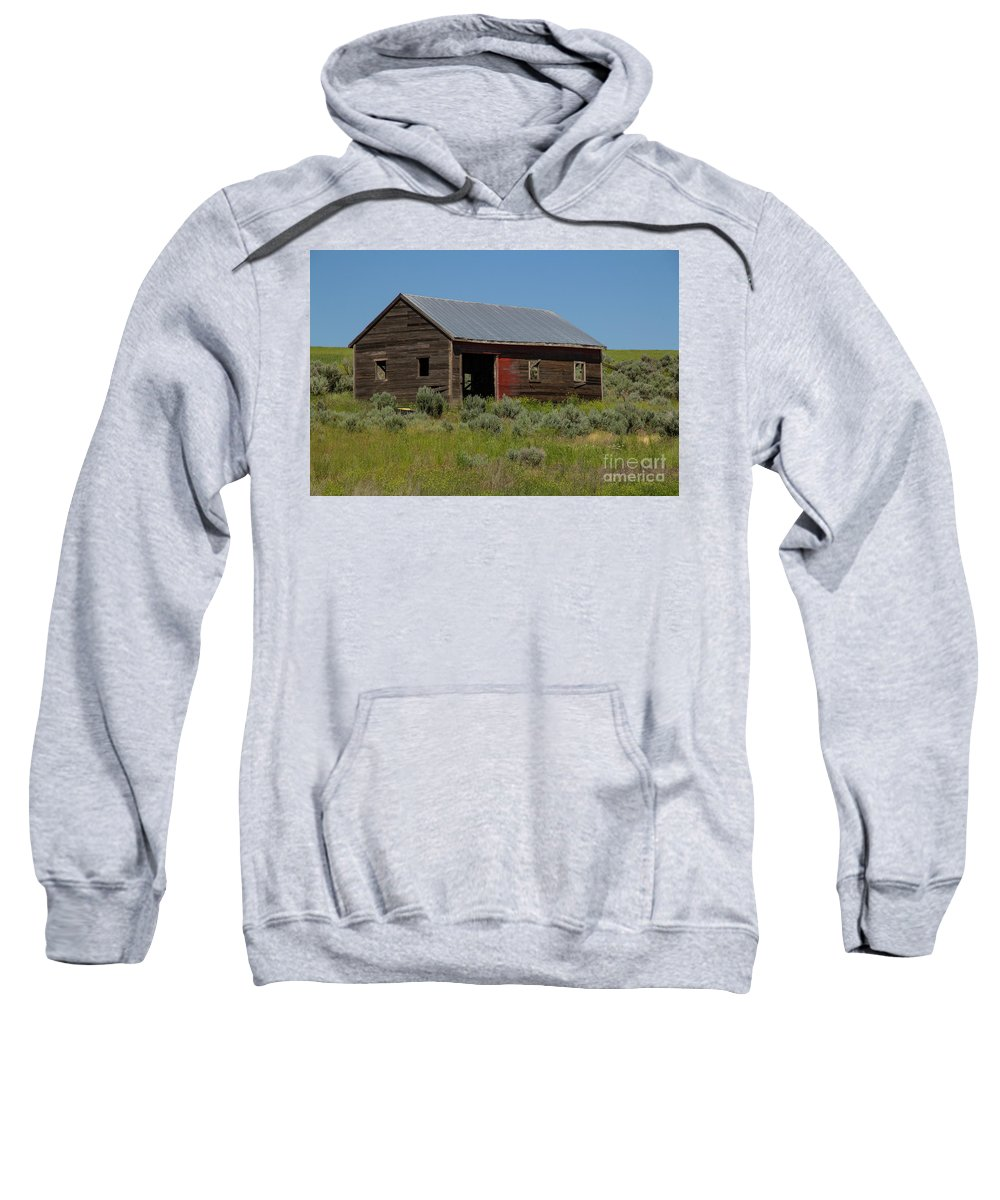 Shed Sweatshirt featuring the photograph Hwy 2-3270 by Roger Patterson