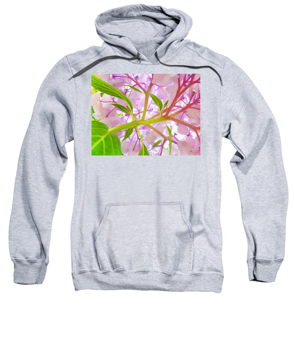 Bright Sweatshirt featuring the photograph Hydrangea Flower Inside Floral Art Prints Baslee Troutman by Baslee Troutman
